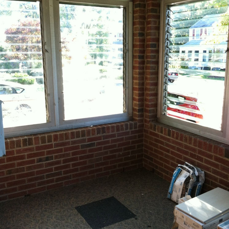 expect new windows here, as well as my work table and easel