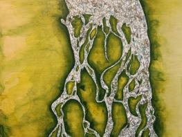 """Yenisei River (2016), 18"""" x 24"""" (sold)"""