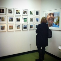 Across the hall, friend and photographer Kristin Adair